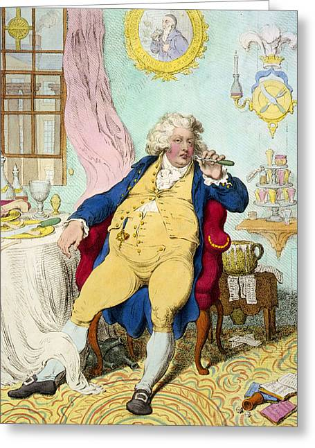 18th Century Greeting Cards - George IV Greeting Card by James Gilray