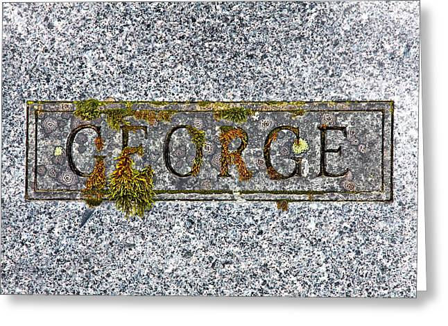 Headstones Greeting Cards - George Greeting Card by Karon Melillo DeVega