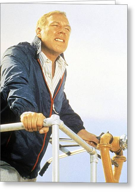 Airports Greeting Cards - George Kennedy in Airport 1975  Greeting Card by Silver Screen