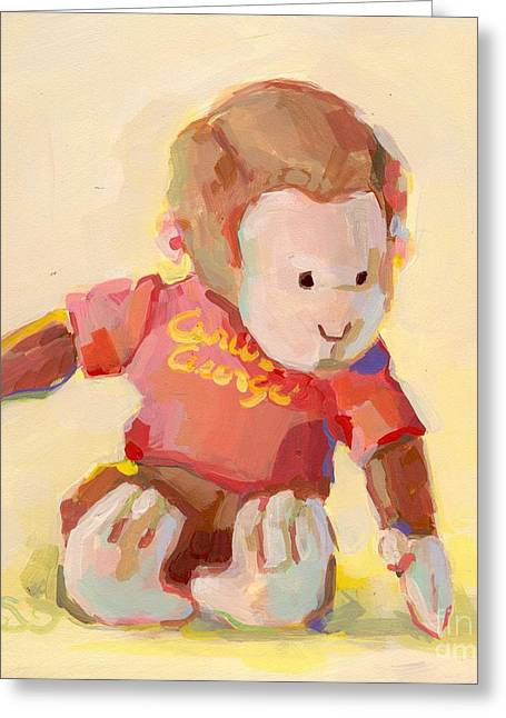 Toy Greeting Cards - George Greeting Card by Kimberly Santini