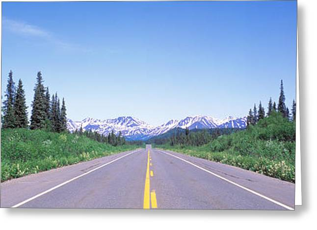 Ak Greeting Cards - George Parks Highway Ak Greeting Card by Panoramic Images