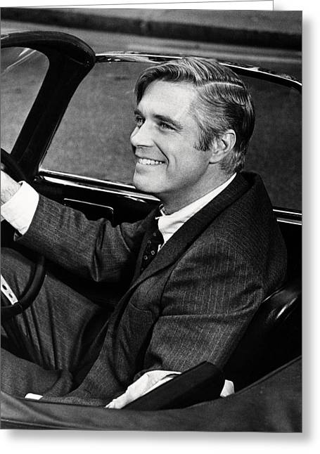 Executioner Greeting Cards - George Peppard in The Executioner  Greeting Card by Silver Screen