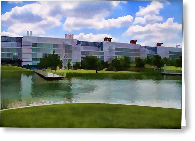 George R Brown Convention Center Greeting Card by Audreen Gieger-Hawkins