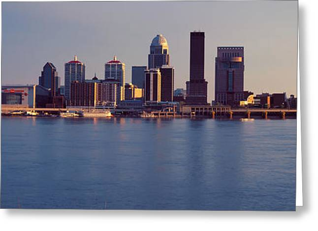River Photography Greeting Cards - George Rogers Clark Memorial Bridge Greeting Card by Panoramic Images