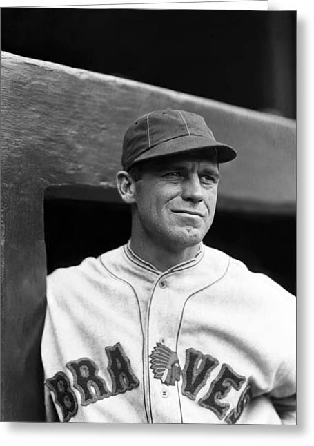 National League Baseball Photographs Greeting Cards - George Sisler Greeting Card by Retro Images Archive
