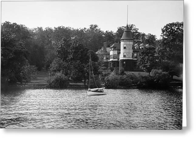 Lake Geneva Greeting Cards - Lake Geneva Wisconsin - George Sturgis Residence - 1899 Greeting Card by Ben Thompson