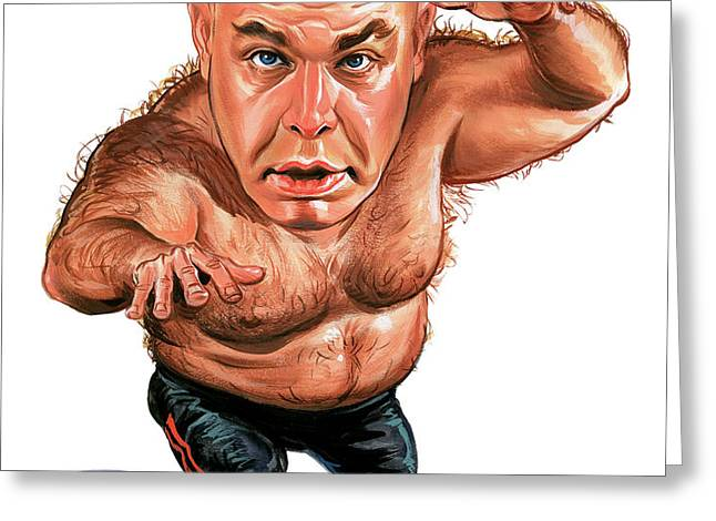 George The Animal Steele Greeting Card by Art