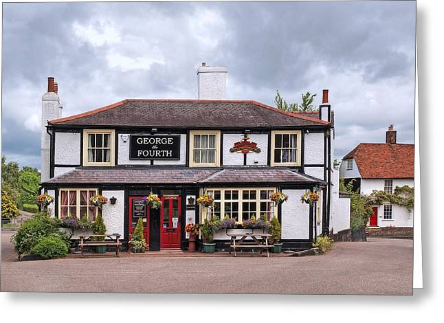 Old Inns Greeting Cards - George The Fourth Pub Greeting Card by Gill Billington