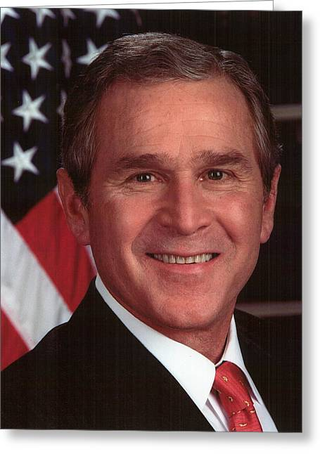 George W Bush Greeting Card by Official Gov Files