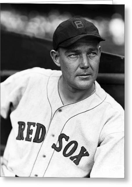 Boston Red Sox Greeting Cards - George W. Pipgras Greeting Card by Retro Images Archive