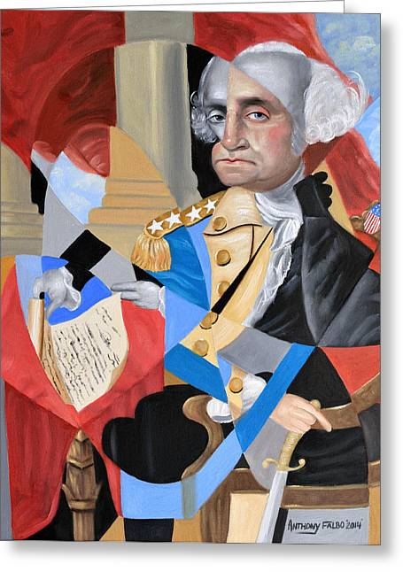 Constitutions Greeting Cards - George Washington Greeting Card by Anthony Falbo
