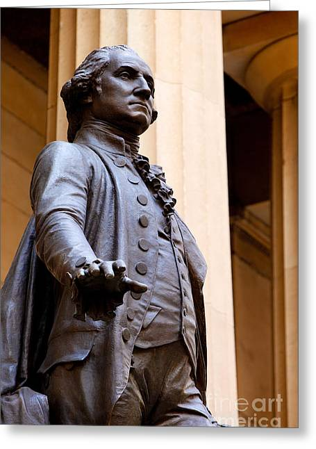 Inauguration Photographs Greeting Cards - George Washington Greeting Card by Brian Jannsen