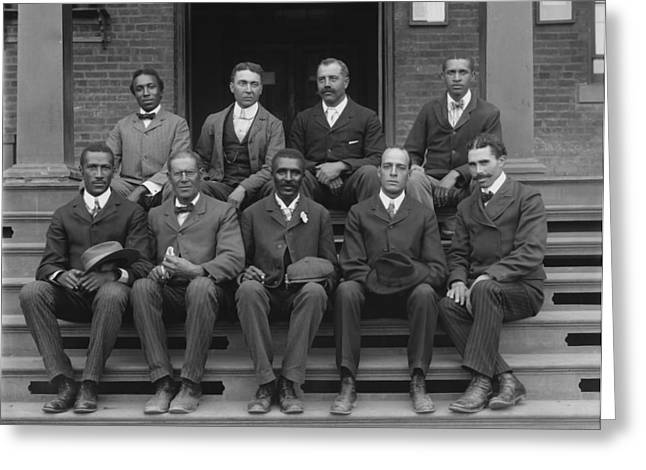 Carver Greeting Cards - George Washington Carver and Staff 1902 Greeting Card by Mountain Dreams