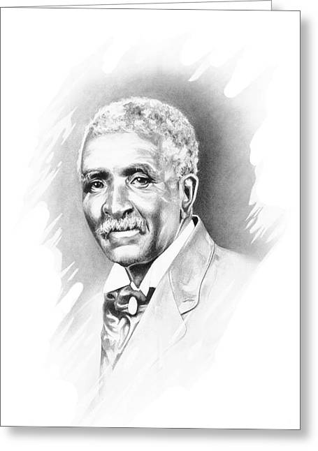 African American Men Drawings Greeting Cards - George Washington Carver Greeting Card by Gordon Van Dusen