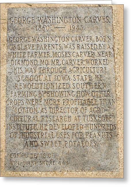 Tuskegee Institute Greeting Cards - George Washington Carver Marker Greeting Card by Lena Wilhite