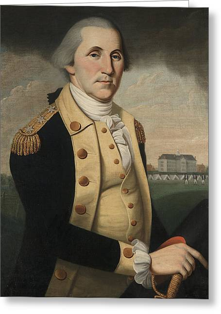 White House Prints Greeting Cards - George Washington Greeting Card by Charles Peale Polk