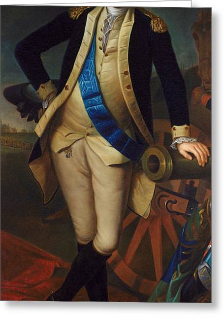 Peale; Charles Willson (1741-1827) Greeting Cards - George Washington Greeting Card by Charles Wilson Peale