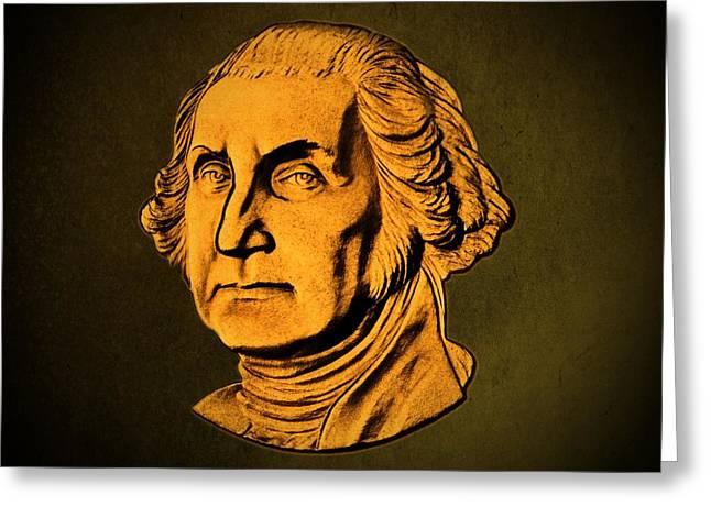 1732 Greeting Cards - George Washington Greeting Card by David Dehner