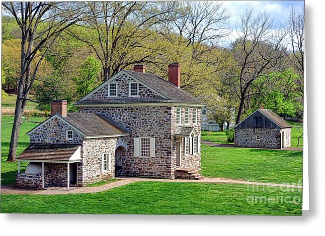 Philadelphia History Greeting Cards - George Washington Headquarters at Valley Forge Greeting Card by Olivier Le Queinec
