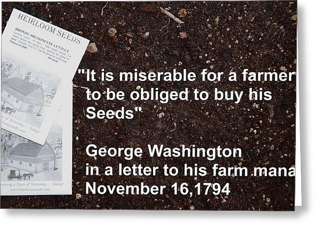 Local Food Greeting Cards - George Washington Greeting Card by Jon Simmons
