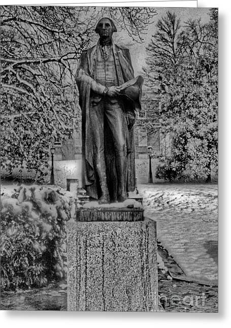 Scenic Pictures Greeting Cards - George Washington Greeting Card by Skip Willits