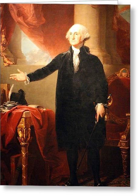 Dolley Greeting Cards - George Washington The Lansdowne Portrait Greeting Card by Cora Wandel