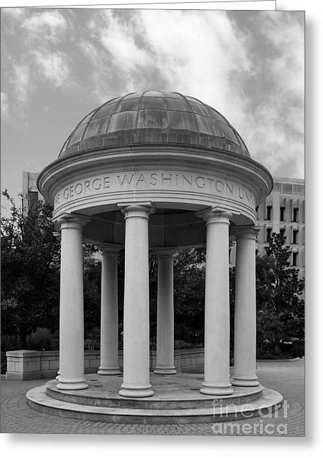 Colonial Architecture Greeting Cards - George Washington University Kogan Plaza Greeting Card by University Icons