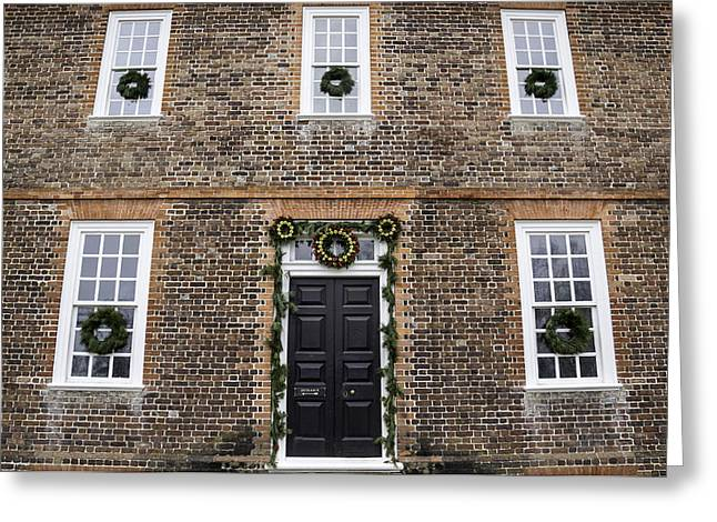 Symetrical Greeting Cards - George Wythe House Williamsburg Greeting Card by Teresa Mucha
