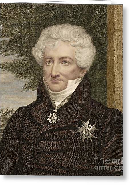 Georges Cuvier, French Palaeontologist Greeting Card by Paul D. Stewart
