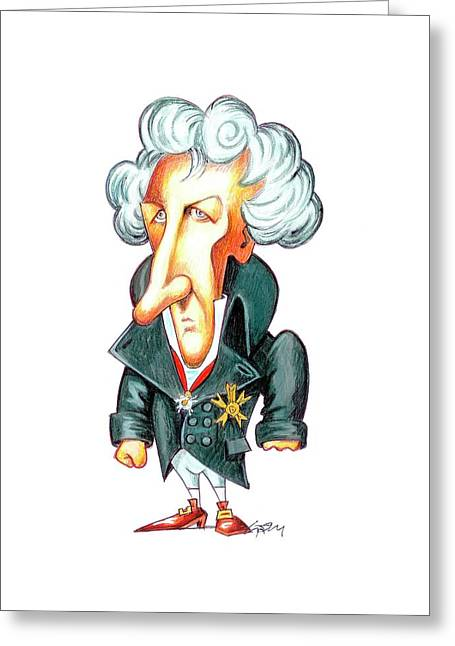 Georges Cuvier Greeting Card by Gary Brown