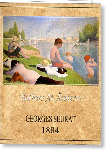 Seurat Greeting Cards - Georges Seurat 1 Greeting Card by Andrew Fare