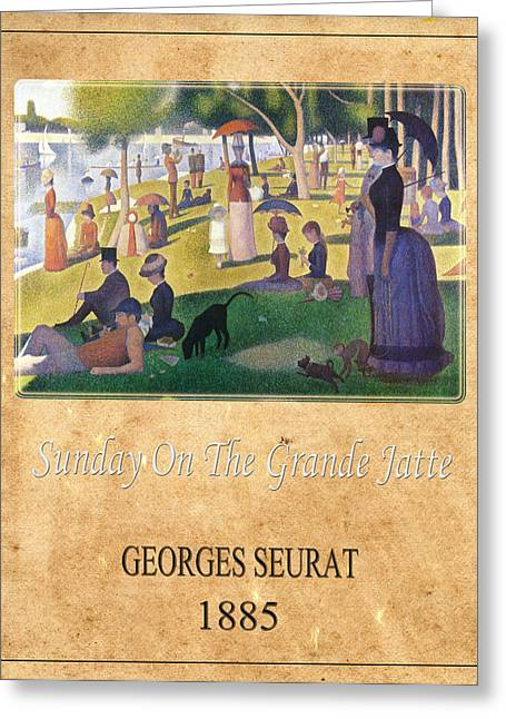 Seurat Greeting Cards - Georges Seurat 2 Greeting Card by Andrew Fare