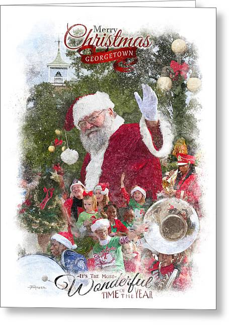 Marching Band Greeting Cards - Georgetown Christmas Greeting Card by Alan Sherlock