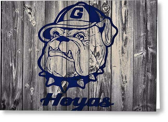 Recently Sold -  - Basketballs Greeting Cards - Georgetown Hoyas Barn Greeting Card by Dan Sproul