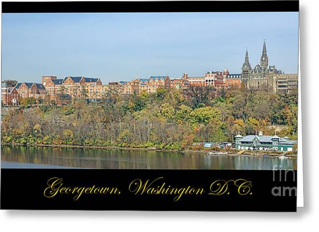 Fall Prints Greeting Cards - Georgetown Poster Greeting Card by Olivier Le Queinec