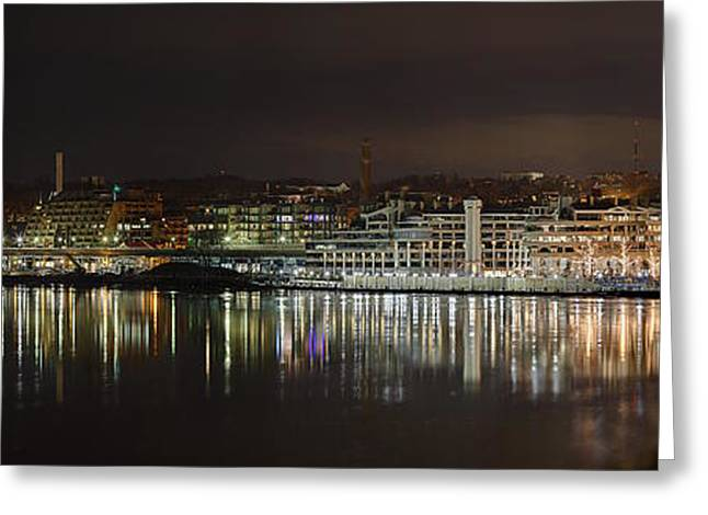 Mirror Greeting Cards - Georgetown Waterfront Greeting Card by Metro DC Photography