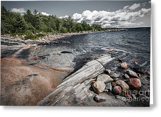 Huron Coast Greeting Cards - Georgian Bay V Greeting Card by Elena Elisseeva