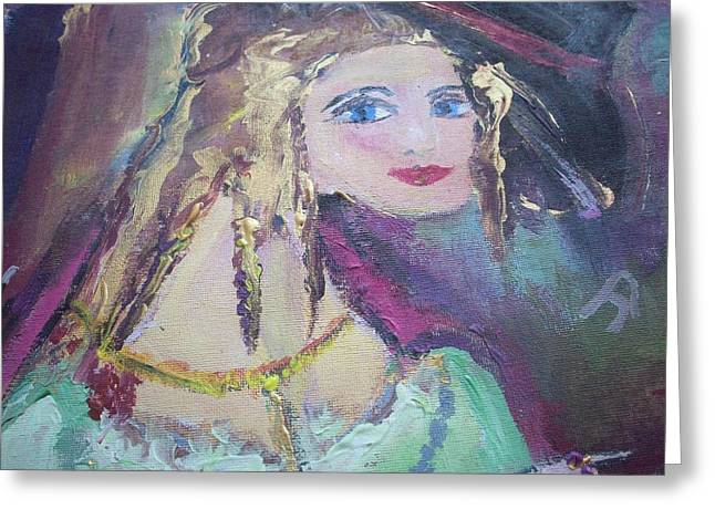 Georgiana And The Ring Greeting Card by Judith Desrosiers