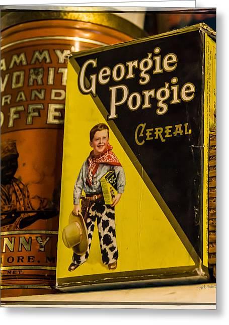 Georgie Porgie Greeting Card by Mick Anderson