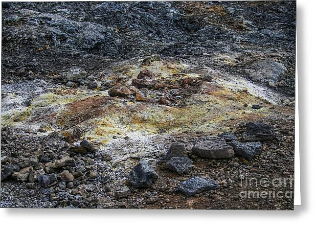 Yelllow Greeting Cards - Geothermal colors Greeting Card by Patricia Hofmeester