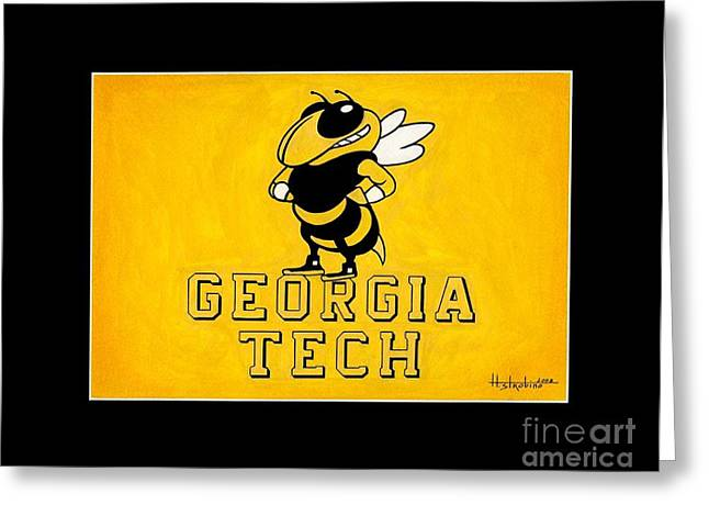 Sec Paintings Greeting Cards - Geogia Tech Mascot Greeting Card by Herb Strobino