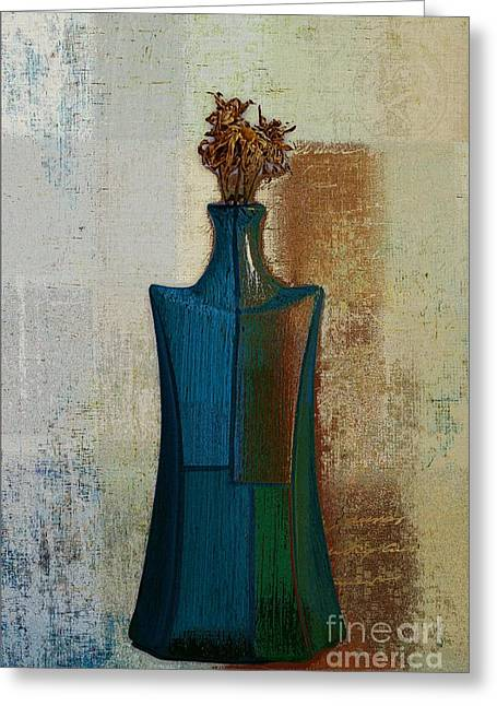 Vase Digital Art Greeting Cards - GeoVase - 57jm01 Greeting Card by Variance Collections