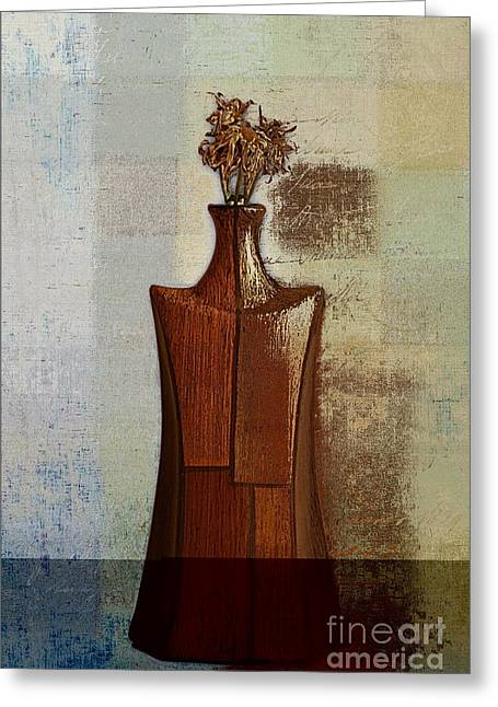 Floral Still Life Greeting Cards - GeoVase - j118073091a Greeting Card by Variance Collections
