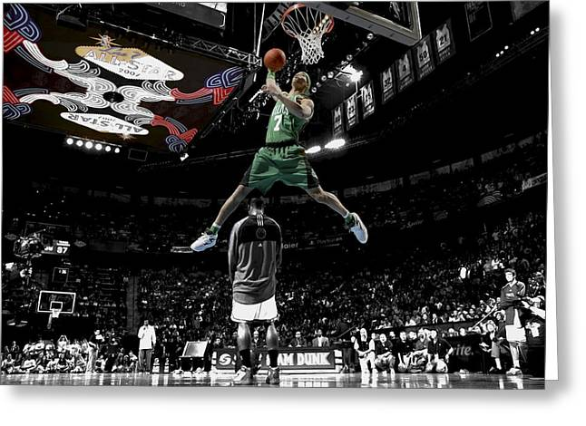 Dwight Howard Greeting Cards - Gerald Green Greeting Card by Brian Reaves