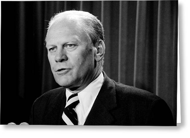 Gerald R Ford Greeting Card by Benjamin Yeager