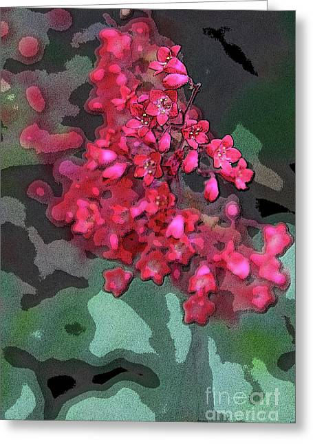 Red Geraniums Digital Greeting Cards - Geranium Abstract Greeting Card by Christiane Schulze Art And Photography