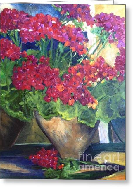 Daughter Gift Greeting Cards - Geranium Bliss Greeting Card by Sherry Harradence