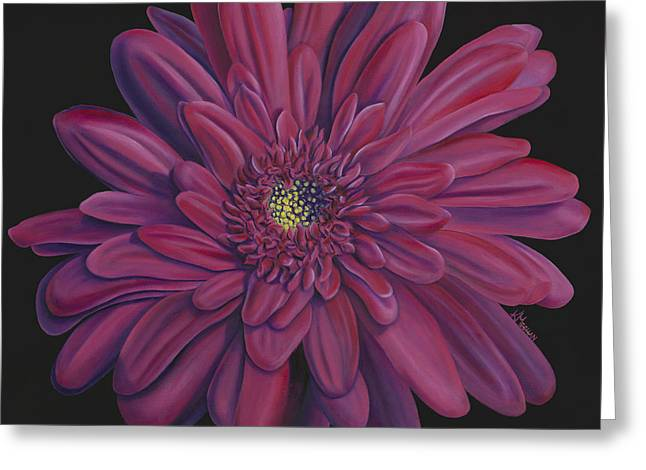 Gerber Greeting Cards - Gerber Daisy Greeting Card by Kerri Meehan
