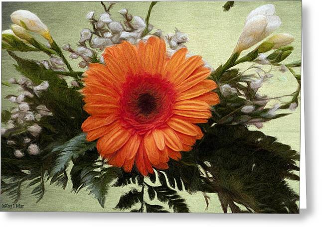 Gerbera Greeting Cards - Gerbera Daisy Greeting Card by Jeff Kolker