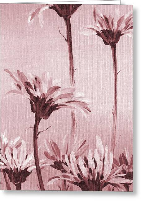 Monotone Paintings Greeting Cards - Gerberas Greeting Card by Natasha Denger